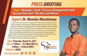 Dr Menelas Nkeshimana,HOD Accident and Emergency at Centre Hospitalier Universitaire de Kigali