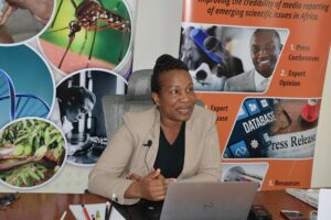 Mary Kilavi, Assistant Director-Public Weather Service during an AfriSMC Press Briefing on Kenya (June-August 2021) Season Weather Pattern