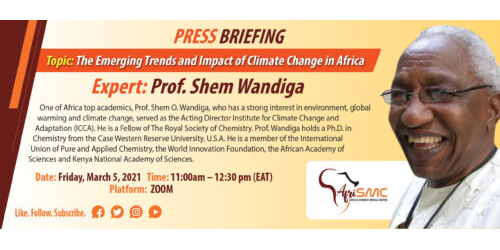 Presentation by Prof Shem Wandiga on Emerging Trends and Impact of Climate Change in Africa