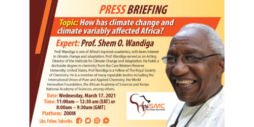 Presentation By Prof Shem Wandiga on  Effects of climate change in Africa