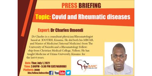 Presentation on COVID and Rheumatic  Diseases by Dr Charles Omondi