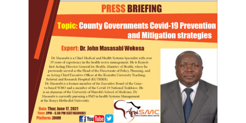 Presentation by DR. John Masasabi Wekesa on Prevention & Mitigation Strategies in Counties