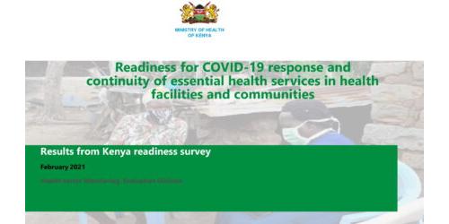Kenya COVID Study findings 12th Mar 21