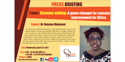 Presentation on Genome Editing by Dr Ihuoma Okwuonu